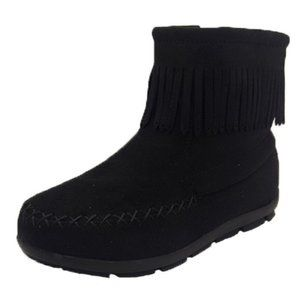 Girls Shoes Grosby Ruby Black Fringe boot NEW